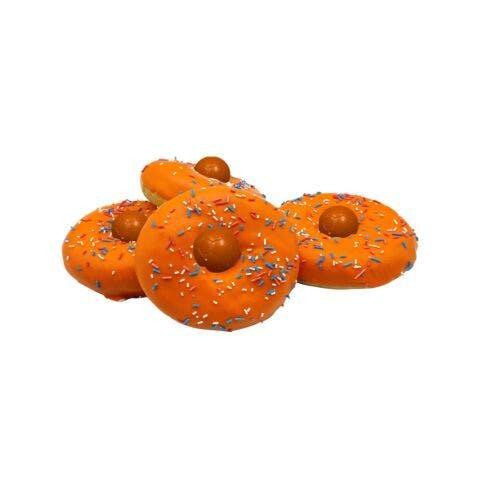 Oranje donuts per 4 stuks